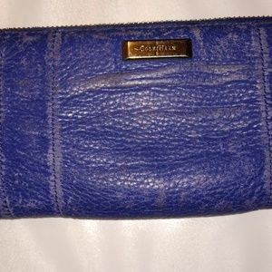 NWOT Cole Haan Wallet Billfold Ruched Zip Around